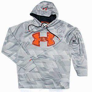 Under Armour Big Logo Printed Hoodie Mens M Storm